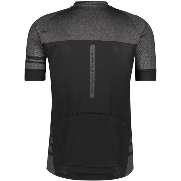AGU Essential Melange Kurzarm Trikot Herren grau/schwarz