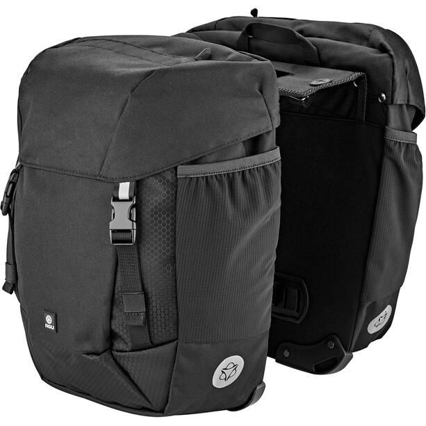 AGU Performance DWR Double Pannier Bag MIK, noir