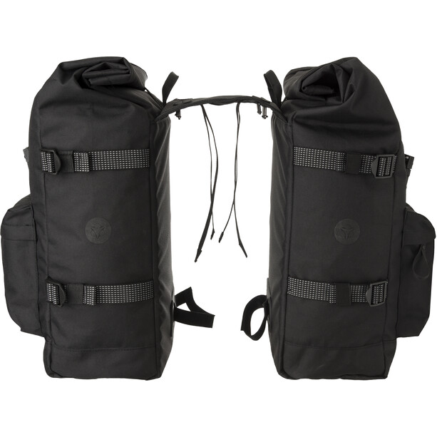 AGU Urban H2O II Roll-Top Double Pannier Bag MIK, black