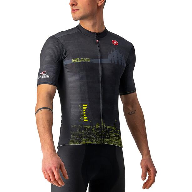 Castelli Giro d'Italia Milano TT SS Jersey Men, noir/jaune
