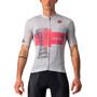 Castelli Giro d'Italia Trofeo Rosa SS Jersey Men, argent/rouge