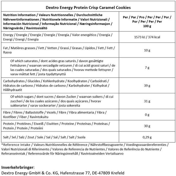 Dextro Energy Protein Crisp Box 6 x 50g / 14.07.2021 Karamell-Kekse