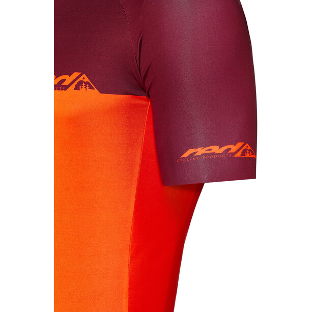 Red Cycling Products Block SS Jersey Men, orange/rouge