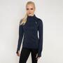 Salming Norviken Halfzip LS Shirt Women, blå