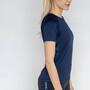 Salming Sandviken Kurzarmshirt Damen blau