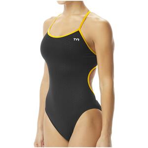 TYR Hexa Trinityfit Swimsuit Women svart/guld svart/guld