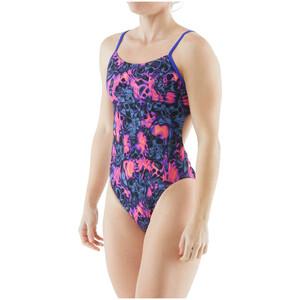 TYR Spirit Fire Tetrafit Swimsuit Women, gris/rose gris/rose