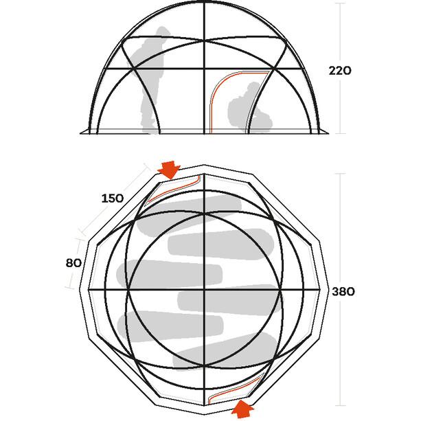 Ferrino Colle Sud (Inner + Double Fly) Zelt orange