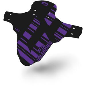 """UNLEAZHED Unsplash M01 Front Mudguard 26-29"""" incl. 4 Cable Ties, violet/noir violet/noir"""