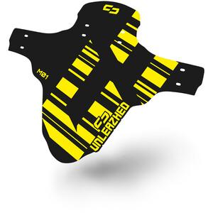 "UNLEAZHED Unsplash M01 Front Mudguard 26-29"" incl. 4 Cable Ties svart/gul svart/gul"