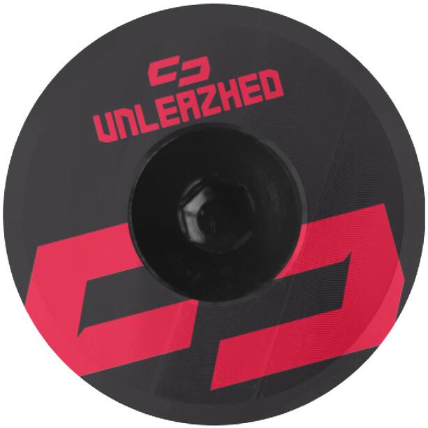 UNLEAZHED Unloose AL01 Aluminium Top Cap schwarz/rot