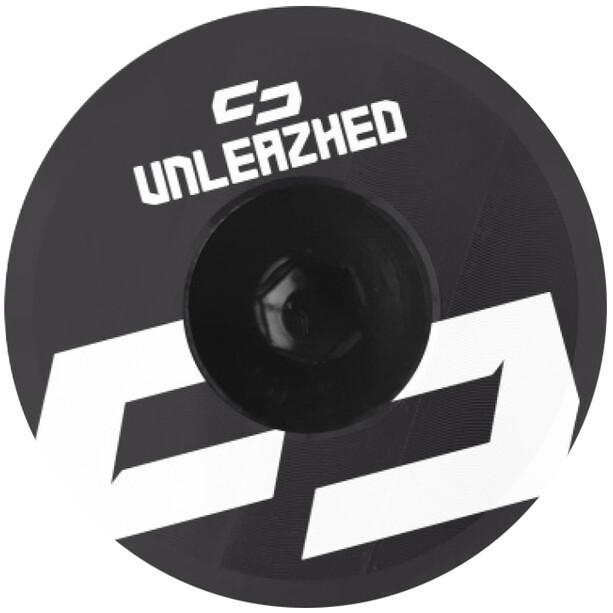 UNLEAZHED Unloose AL01 Aluminium Top Cap schwarz/weiß
