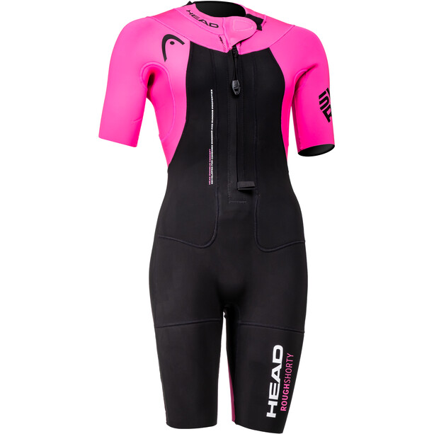 Head Swimrun Rough Neopren-Shorty Damen schwarz/pink