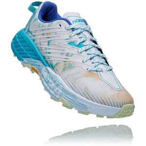 Hoka One One Speedgoat 4 Schoenen Dames, wit/turquoise wit/turquoise