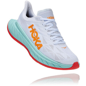 Hoka One One Carbon X 2 Shoes Women, wit/turquoise wit/turquoise