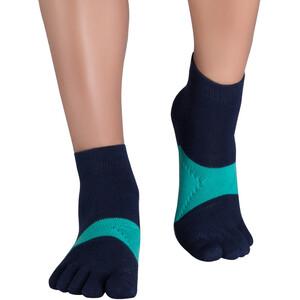 Knitido Marathon TS Running Socks, bleu/vert bleu/vert