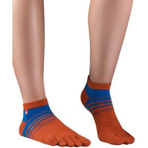 Knitido Spins Laufsocken orange/blau orange/blau