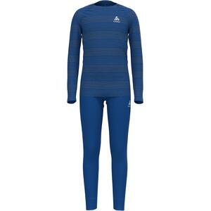 Odlo Active Warm Plus Set Long Kids, blauw/grijs blauw/grijs