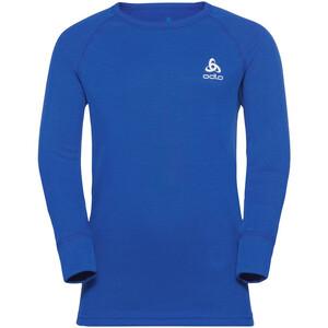 Odlo Active Warm Plus Top Crew Neck L/S Kids, azul azul