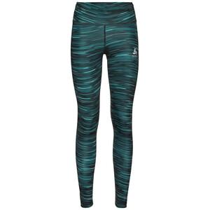 Odlo Zeroweight Print Reflective Tights Damen schwarz/grün schwarz/grün
