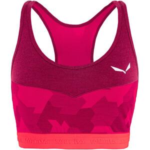 SALEWA Cristallo Warm Alpine Merino Responsive BH-Top Damen pink pink