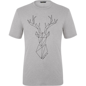 SALEWA Big Deer Dry Kurzarm Tee Herren grau grau