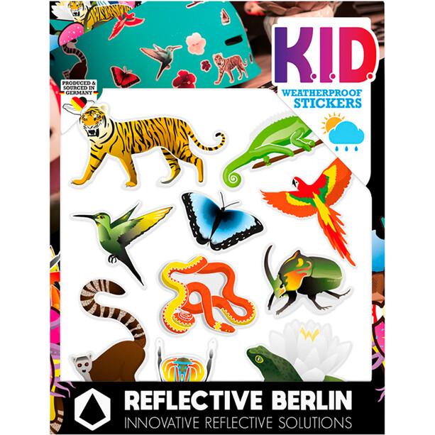 REFLECTIVE BERLIN K.I.D. Reflekterende klistermærke, farverig