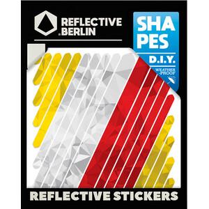 REFLECTIVE BERLIN Shapes Reflekterande Klistermärken flerfärgad flerfärgad