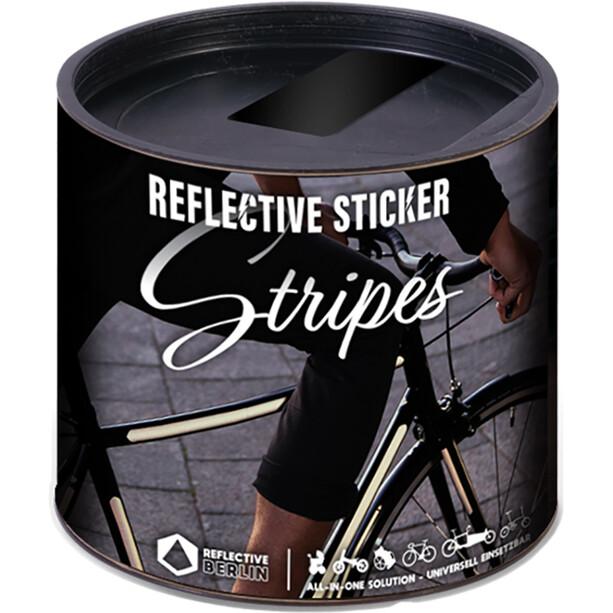 REFLECTIVE BERLIN Stripes Reflektierender Sticker schwarz
