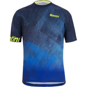 Santini Rock MTB Maglia a Maniche Corte Uomo, blu blu