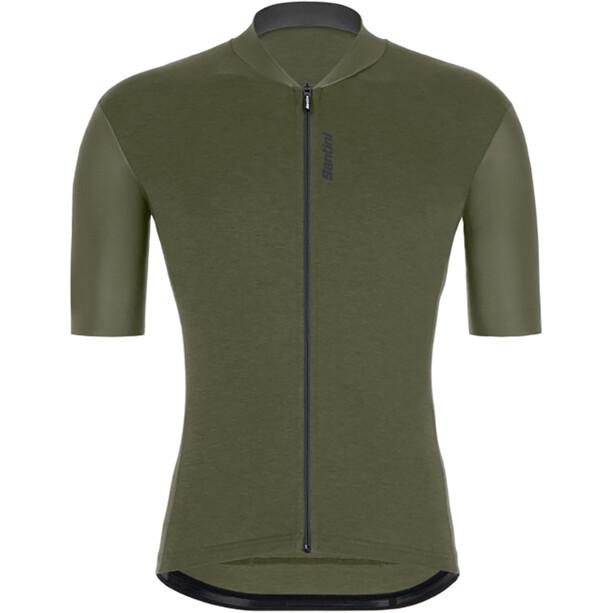 Santini Gravel S/S Jersey Men, oliven/grøn
