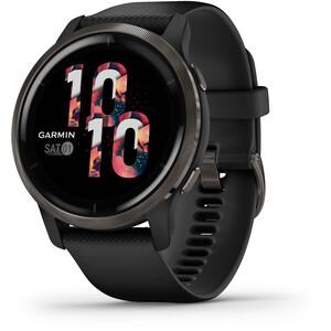 Garmin Venu 2 Smartwatch with Quick Change Silicone Watch Band 22mm svart svart