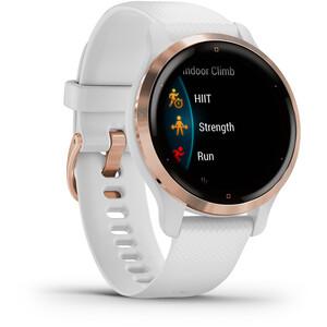 Garmin Venu 2S Smartwatch mit Schnellwechsel-Silikonarmbänder 18mm weiß/gold weiß/gold