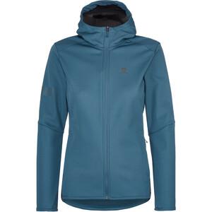 Salomon GTX WS Softshell Jacket Women, bleu bleu