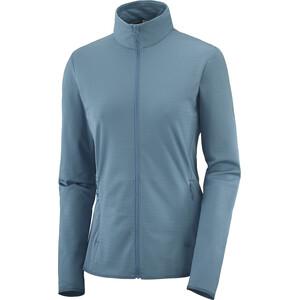 Salomon Outrack Full Zip Mid Fleecejacket Women mallard blue mallard blue