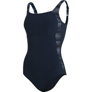 speedo LunaLustre Printed Badeanzug Damen blau/weiß blau/weiß