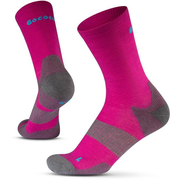 Gococo Technical Cushion High Wool Socks pink/grå