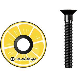 Riesel Design stem:cap für Steuersatz gelb gelb