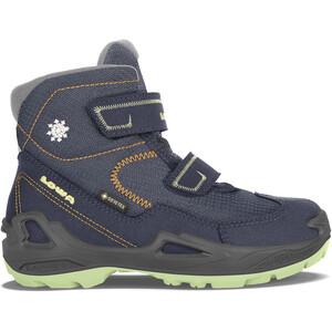 Lowa Milo GTX Mid Shoes Kids, blauw blauw