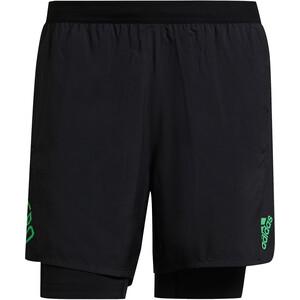 adidas Adizero 2in1 Shorts Herren schwarz schwarz