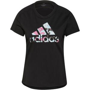 adidas Fast Graphic T-Shirt Damen schwarz schwarz