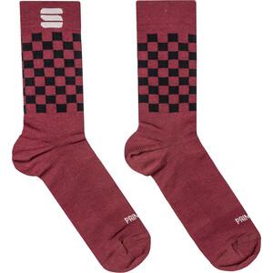 Sportful Checkmate Wintersocken rot/schwarz rot/schwarz