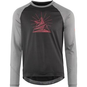 Zimtstern PureFlowz Shirt LS Men, noir/gris noir/gris