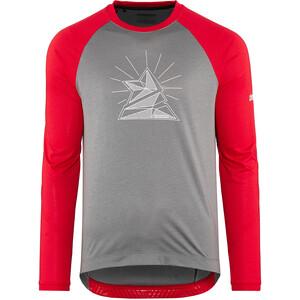 Zimtstern PureFlowz Shirt LS Men grå/röd grå/röd