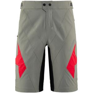 Zimtstern Tauruz Evo Shorts Men, gris/rouge gris/rouge