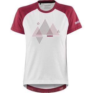 Zimtstern PureFlowz Shirt SS Women vit/röd vit/röd