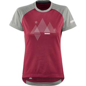 Zimtstern PureFlowz Shirt SS Women, rood/grijs rood/grijs