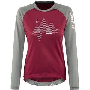 Zimtstern PureFlowz Shirt LS Women röd/grå röd/grå