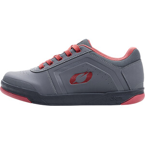 O'Neal Pinned Flat Pedal Shoes Men, gris/rouge gris/rouge