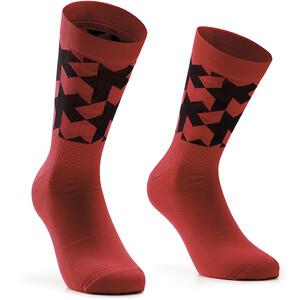 ASSOS Monogram Evo Socken rot rot